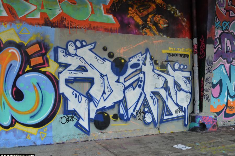 Photo de ABSRU, NBK, RDK, réalisée au Maquis-art Wall of fame - L'aérosol, Paris