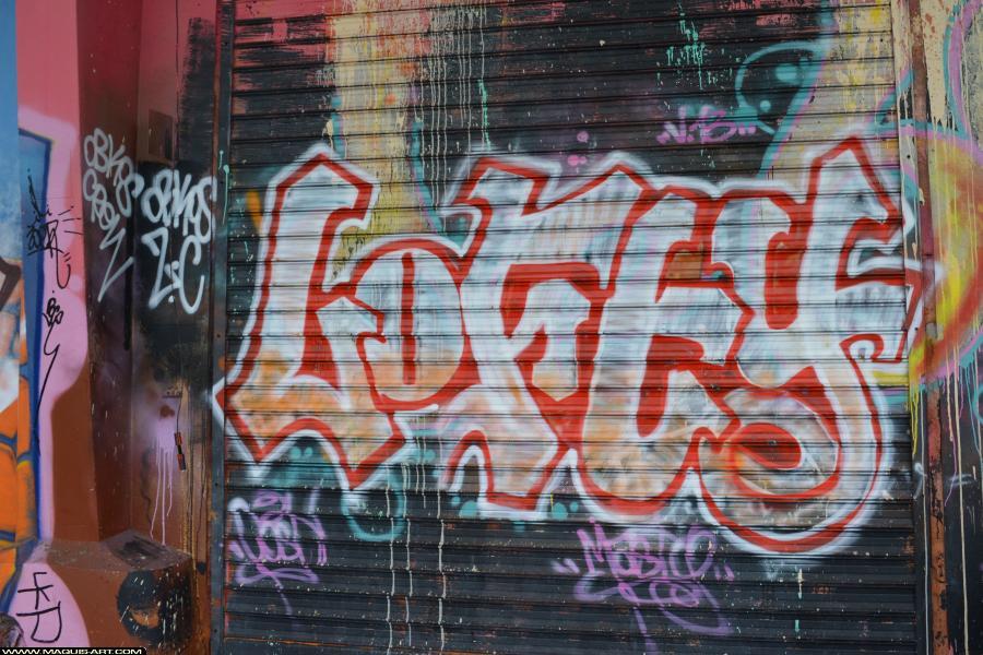 Photo de LOFTY, ZC, OKBOS, réalisée au Maquis-art Wall of fame - L'aérosol, Paris