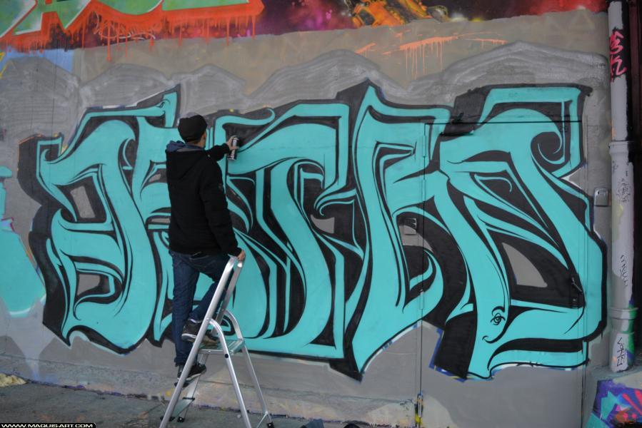 Photo de ASTRO, ODV, réalisée au Maquis-art Wall of fame - L'aérosol, Paris