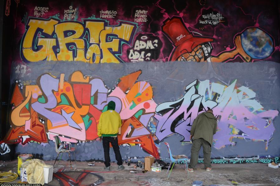Photo de MEHA, KARS, ODV, réalisée au Maquis-art Wall of fame - L'aérosol, Paris