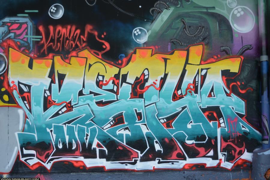 Photo de KENYA, ODV, réalisée au Maquis-art Wall of fame - L'aérosol, Paris
