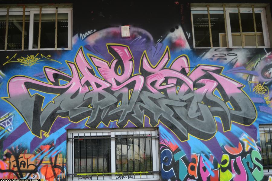 Photo de OBSEK, réalisée au Maquis-art Wall of fame - L'aérosol, Paris