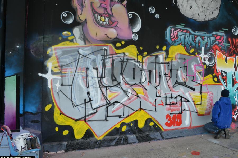 Photo de AGOMER, TMV, réalisée au Maquis-art Wall of fame - L'aérosol, Paris