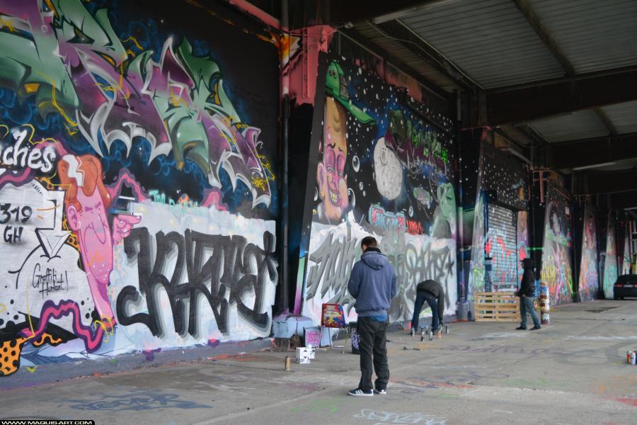 Photo de KURMA, RAINS, ???, réalisée au Maquis-art Wall of fame - L'aérosol, Paris