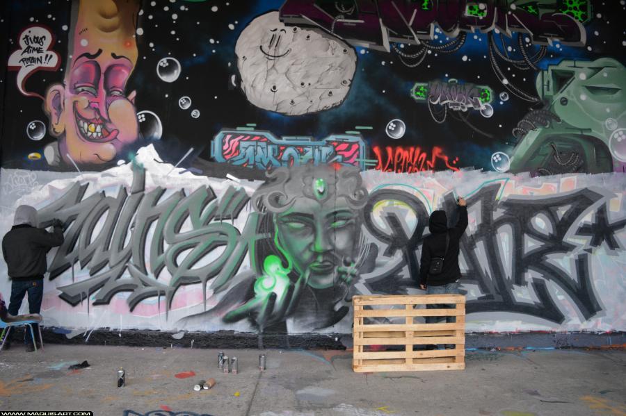 Photo de RAINS, ???, réalisée au Maquis-art Wall of fame - L'aérosol, Paris