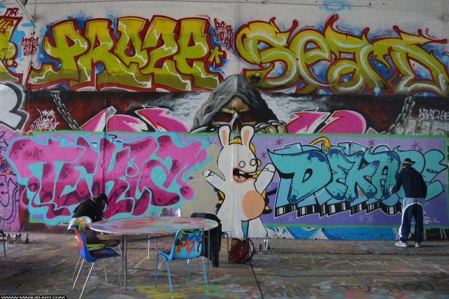 Photo de DEKAPE, TEKLA, réalisée au Maquis-art Wall of fame - L'aérosol, Paris