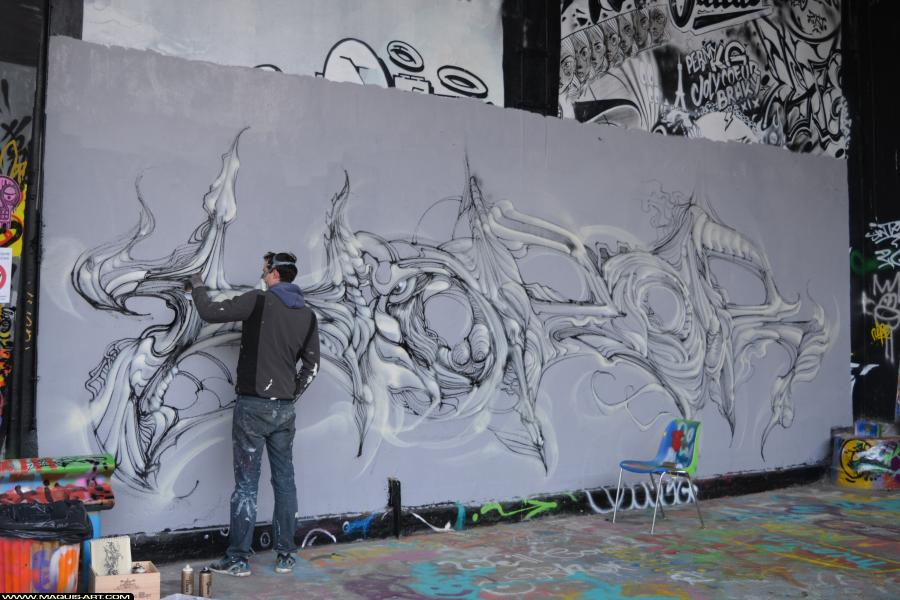 Photo de HOROR, réalisée au Maquis-art Wall of fame - L'aérosol, Paris