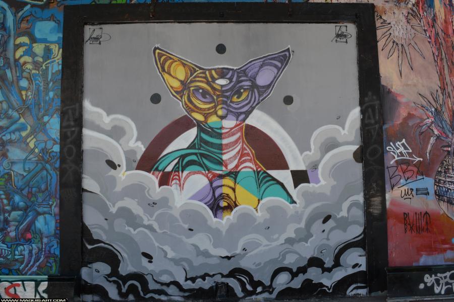 Photo de NORIONE, réalisée au Maquis-art Wall of fame - L'aérosol, Paris