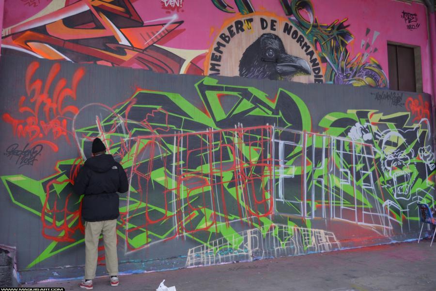 Photo de LARS, 3DT, CKT, CMS, WS, réalisée au Maquis-art Wall of fame - L'aérosol, Paris