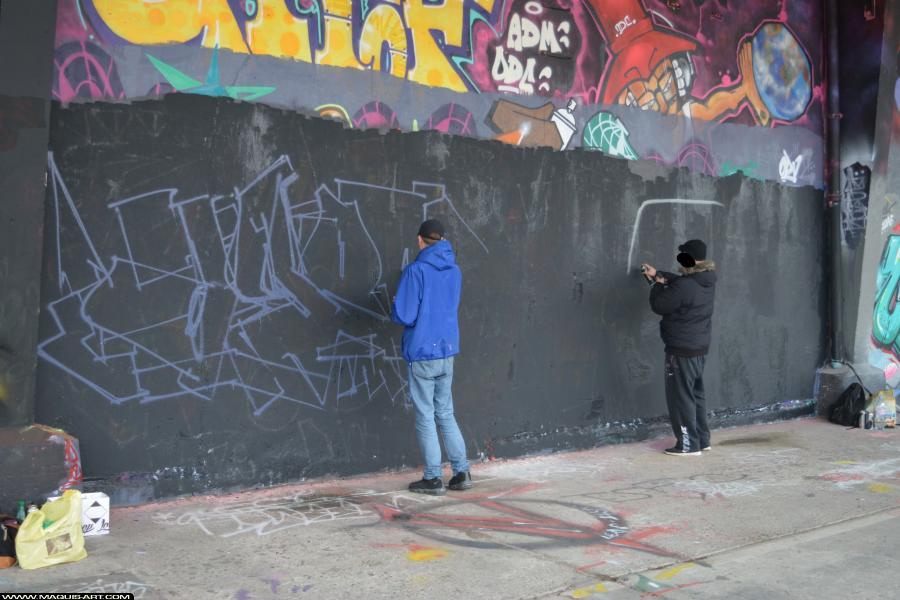 Photo de AGOMER, TMV, INXY, ODV, HG, MCT, réalisée au Maquis-art Wall of fame - L'aérosol, Paris