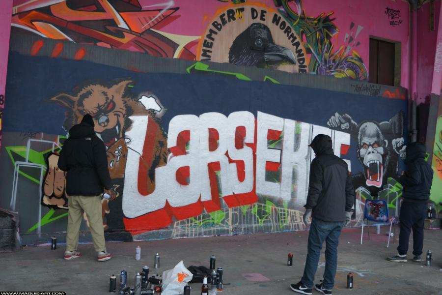 Photo de LARS, CKT, CMS, WS, 3DT, réalisée au Maquis-art Wall of fame - L'aérosol, Paris