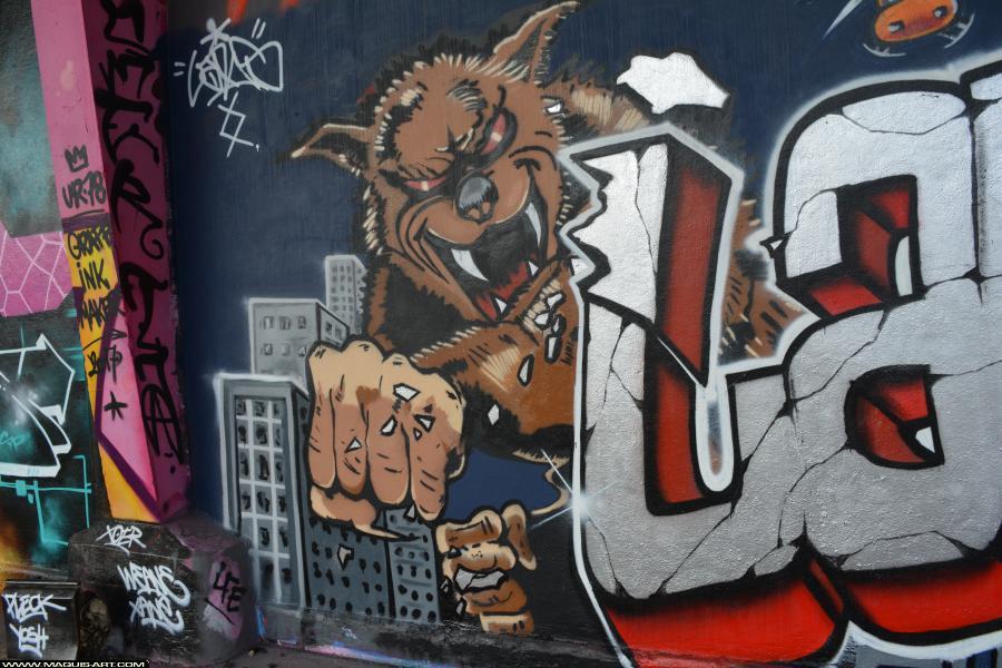 Photo de LARS, CKT, CMS, WS, CKT, réalisée au Maquis-art Wall of fame - L'aérosol, Paris
