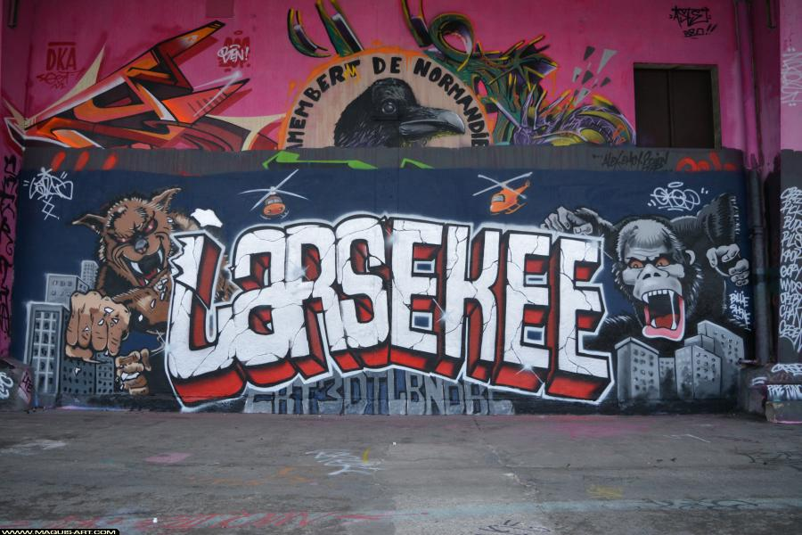 Photo de LARS, EKEE, réalisée au Maquis-art Wall of fame - L'aérosol, Paris