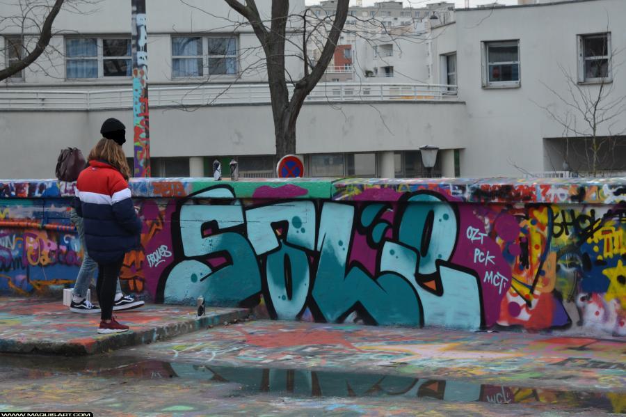 Photo de OZT, SALE, PCK, MCT, réalisée au Maquis-art Wall of fame - L'aérosol, Paris