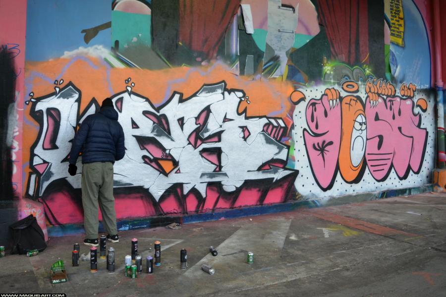 Photo de LARS, CMS, WS, CKT, 3DT, VG, réalisée au Maquis-art Wall of fame - L'aérosol, Paris