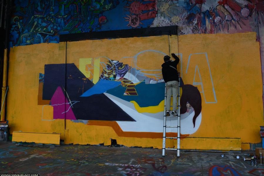 Photo de MEDIA, ONOFF, ODV, réalisée au Maquis-art Wall of fame - L'aérosol, Paris