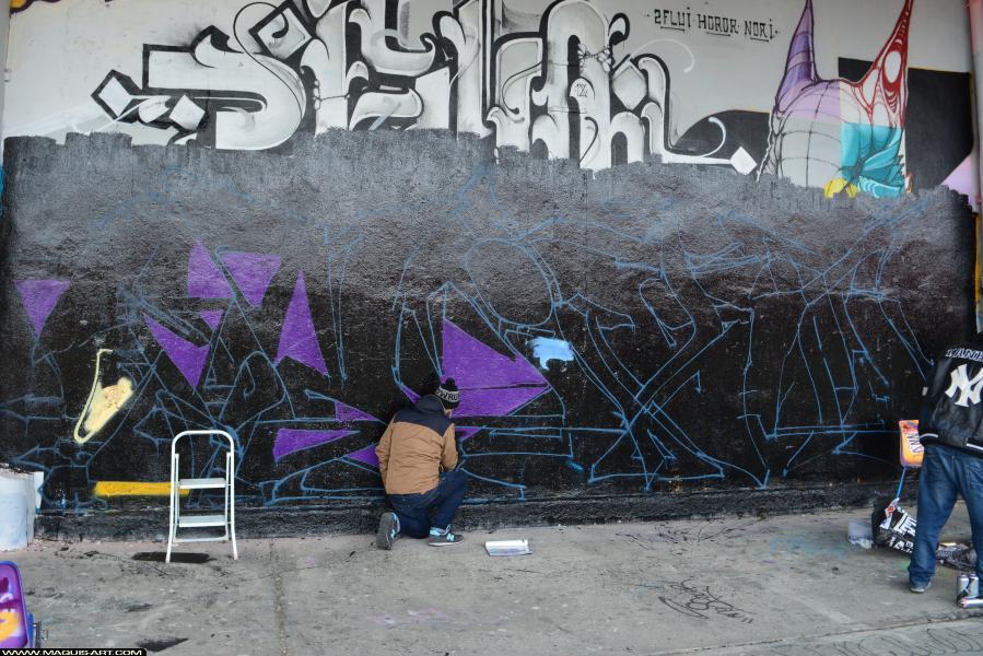 Photo de DIKSA, GT, CMP, RST, réalisée au Maquis-art Wall of fame - L'aérosol, Paris