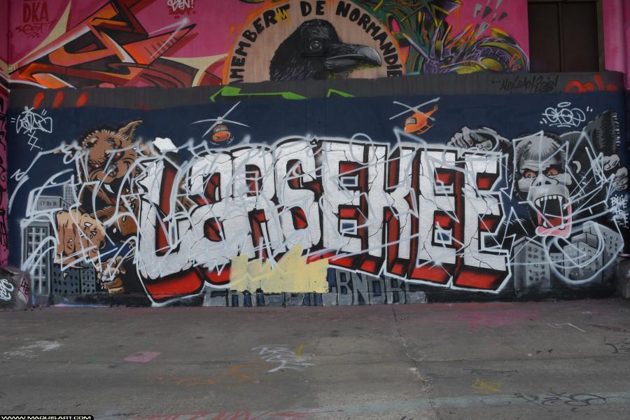 Photo de INXY, GILLES, ODV, MCT, réalisée au Maquis-art Wall of fame - L'aérosol, Paris