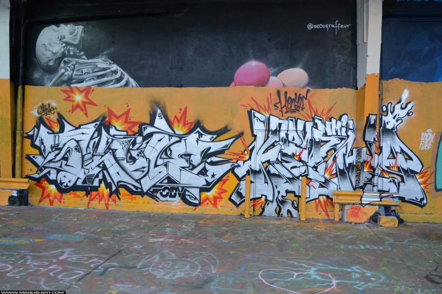 Photo de KENYA, SKULE, ODV, réalisée au Maquis-art Wall of fame - L'aérosol, Paris