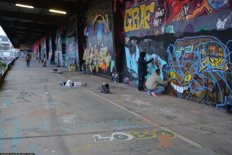 Photo de BARS, GABONE, réalisée au Maquis-art Wall of fame - L'aérosol, Paris