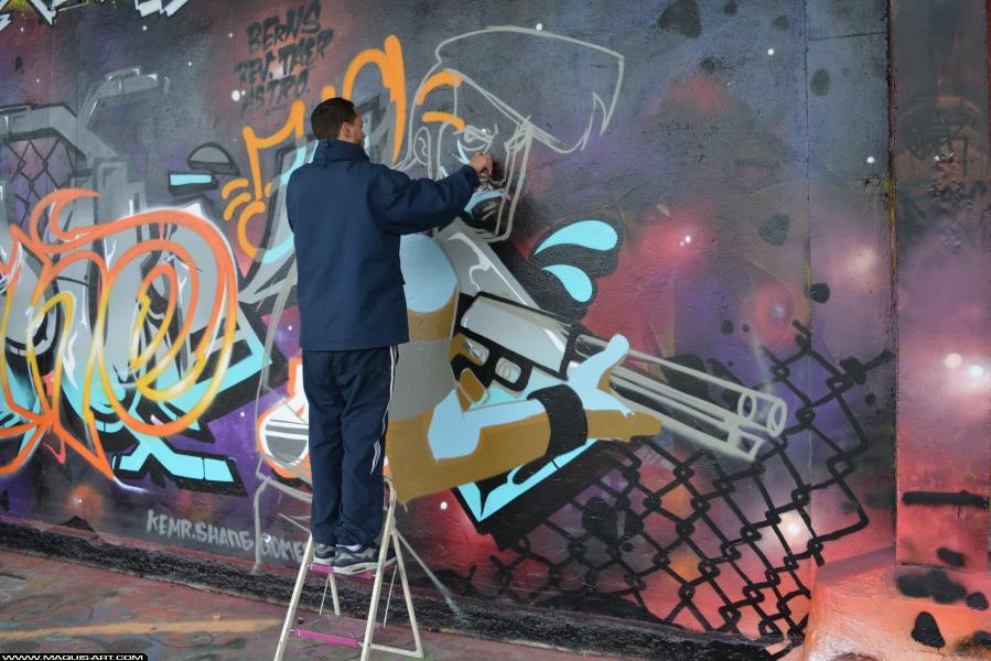 Photo de ???, 93MC, réalisée au Maquis-art Wall of fame - L'aérosol, Paris