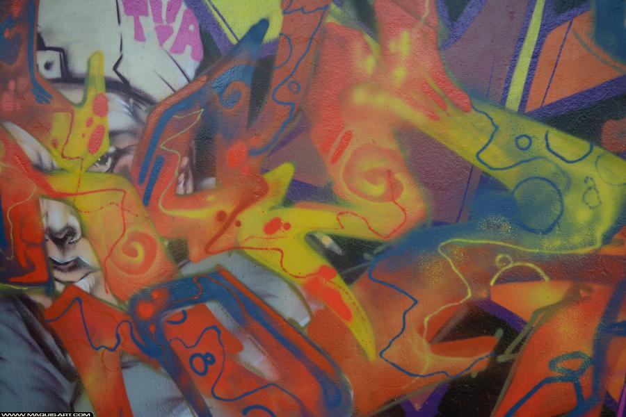 Photo de 2RODE, CKT, D77, 90DBC, DKA, VMD, NST, RIP, réalisée au Maquis-art Wall of fame - L'aérosol, Paris