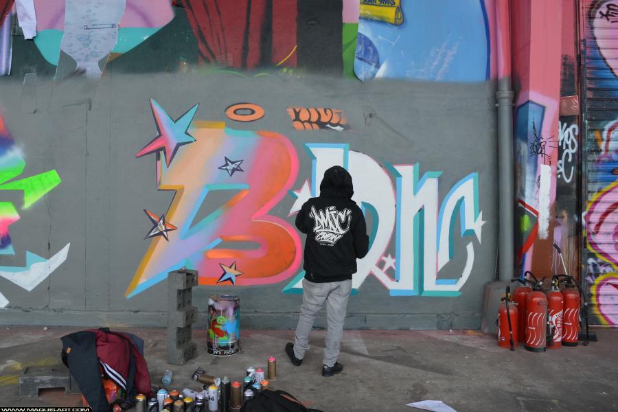 Photo de BERNS, ODV, réalisée au Maquis-art Wall of fame - L'aérosol, Paris