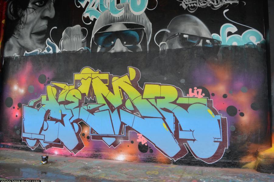 Photo de KEMR, réalisée au Maquis-art Wall of fame - L'aérosol, Paris