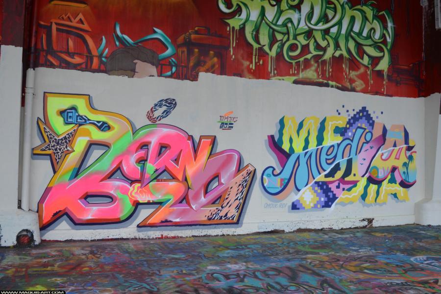 Photo de BERNS, MEDIA (ODV), réalisée au Maquis-art Wall of fame - L'aérosol, Paris