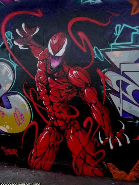 Photo de SINTEZ, ZC, BNC, réalisée au Maquis-art Wall of fame - L'aérosol, Paris