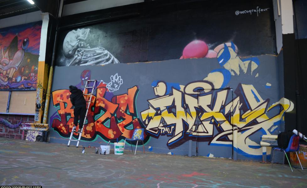 Photo de INXY, RYSE, ODV, MCT, HG, TMV, réalisée au Maquis-art Wall of fame - L'aérosol, Paris