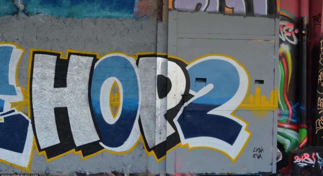 Photo de HOP2, réalisée au Maquis-art Wall of fame - L'aérosol, Paris