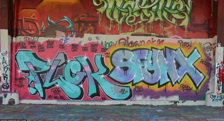 Photo de PLEK, SFINX, réalisée au Maquis-art Wall of fame - L'aérosol, Paris