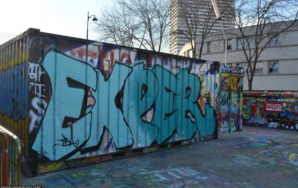 Photo de EXPER, TBA, réalisée au Maquis-art Wall of fame - L'aérosol, Paris
