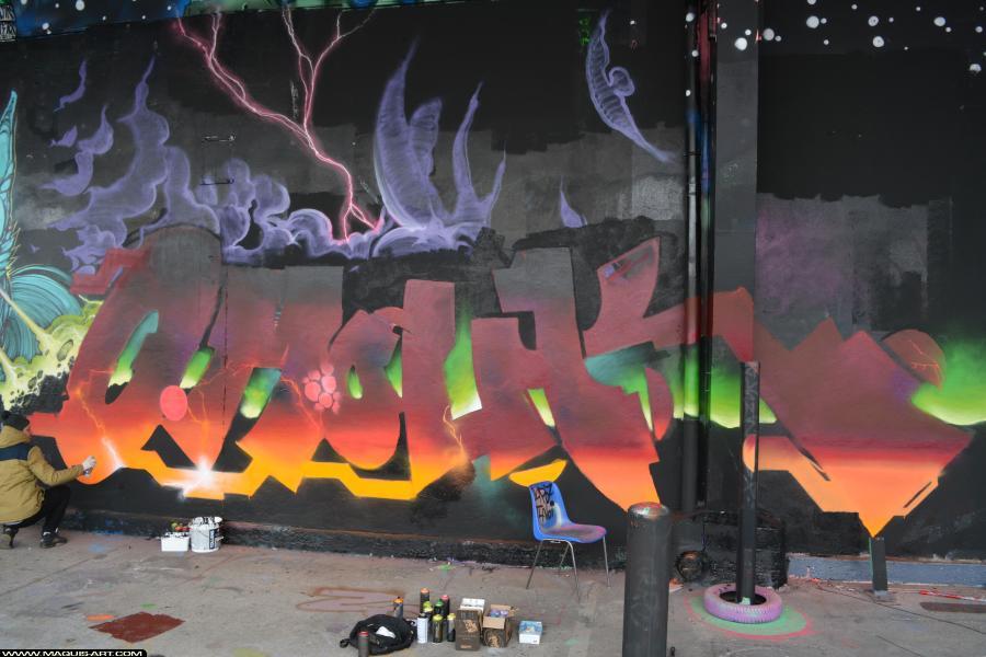 Photo de OMOUK, 319, ODV, FR75, réalisée au Maquis-art Wall of fame - L'aérosol, Paris