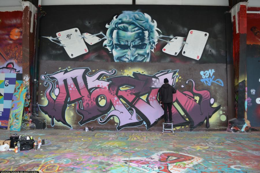 Photo de SAV, TSK, MART, réalisée au Maquis-art Wall of fame - L'aérosol, Paris