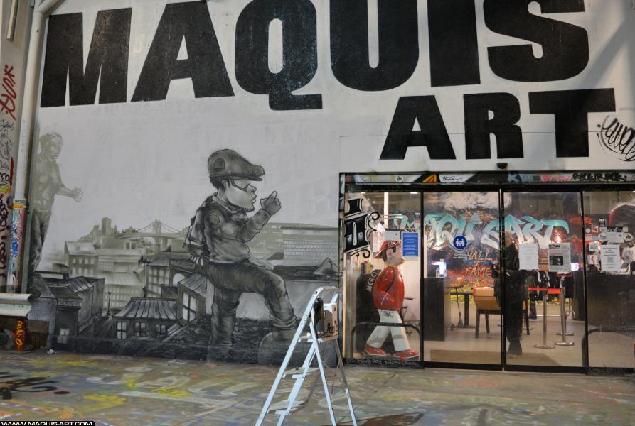 Photo de JOWEL, ASU, réalisée au Maquis-art Wall of fame - L'aérosol, Paris