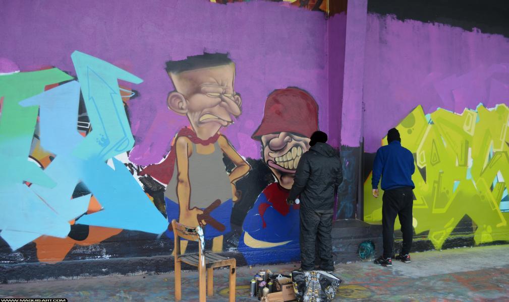 Photo de BERTHET ONE, réalisée au Maquis-art Wall of fame - L'aérosol, Paris
