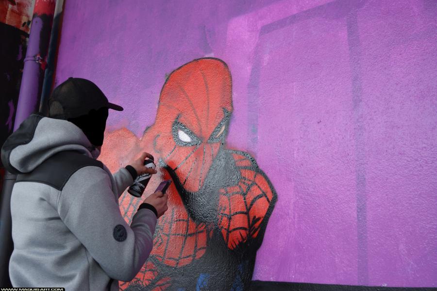 Photo de GABONE, RST88, BNC, réalisée au Maquis-art Wall of fame - L'aérosol, Paris