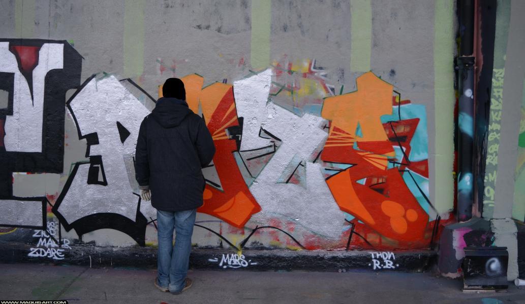 Photo de RYZE, réalisée au Maquis-art Wall of fame - L'aérosol, Paris