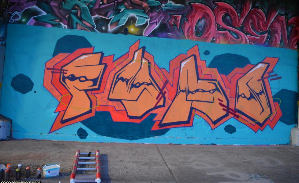 Photo de FYMO, réalisée au Maquis-art Wall of fame - L'aérosol, Paris