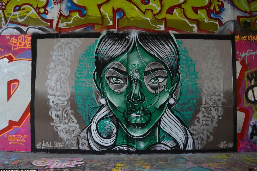 Photo de JALLAL, FLUIDE, réalisée au Maquis-art Wall of fame - L'aérosol, Paris
