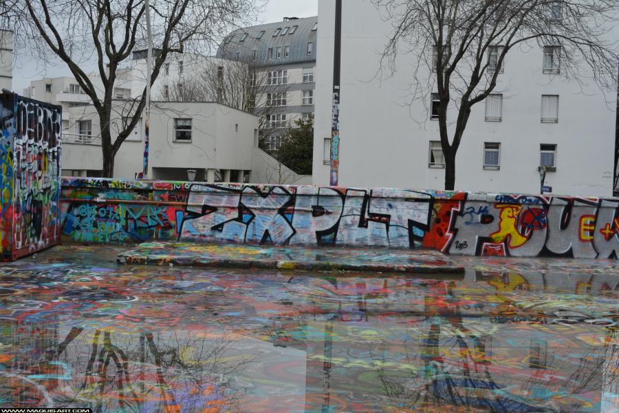 Photo de ZX, PLT, réalisée au Maquis-art Wall of fame - L'aérosol, Paris