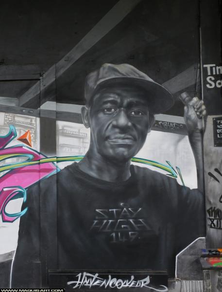 Photo de NAYH, HEC, réalisée au Maquis-art Wall of fame - L'aérosol, Paris