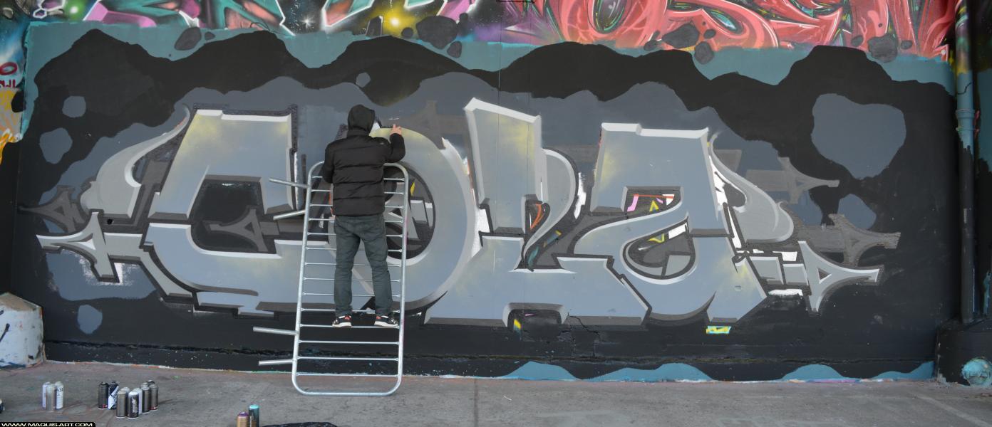 Photo de COLA, réalisée au Maquis-art Wall of fame - L'aérosol, Paris