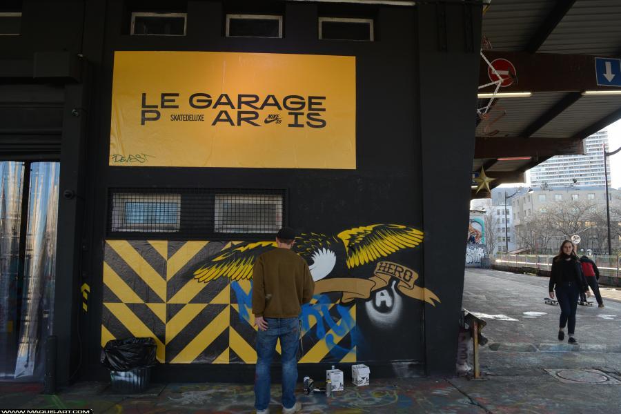 Photo de SINTEZ, réalisée au Maquis-art Wall of fame - L'aérosol, Paris