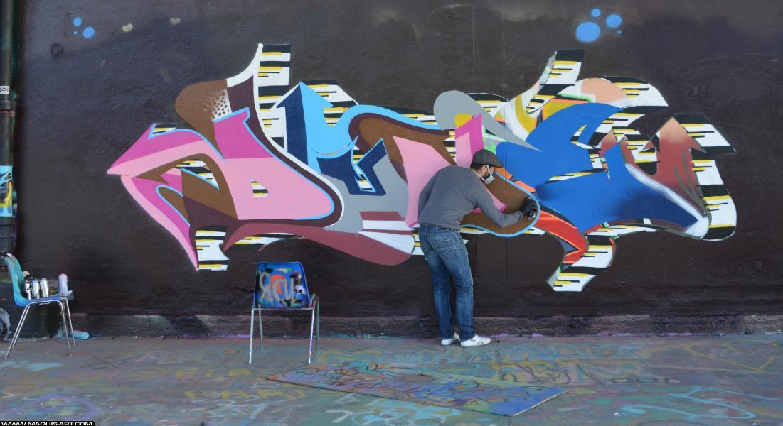Photo de DUNE, DEF, réalisée au Maquis-art Wall of fame - L'aérosol, Paris