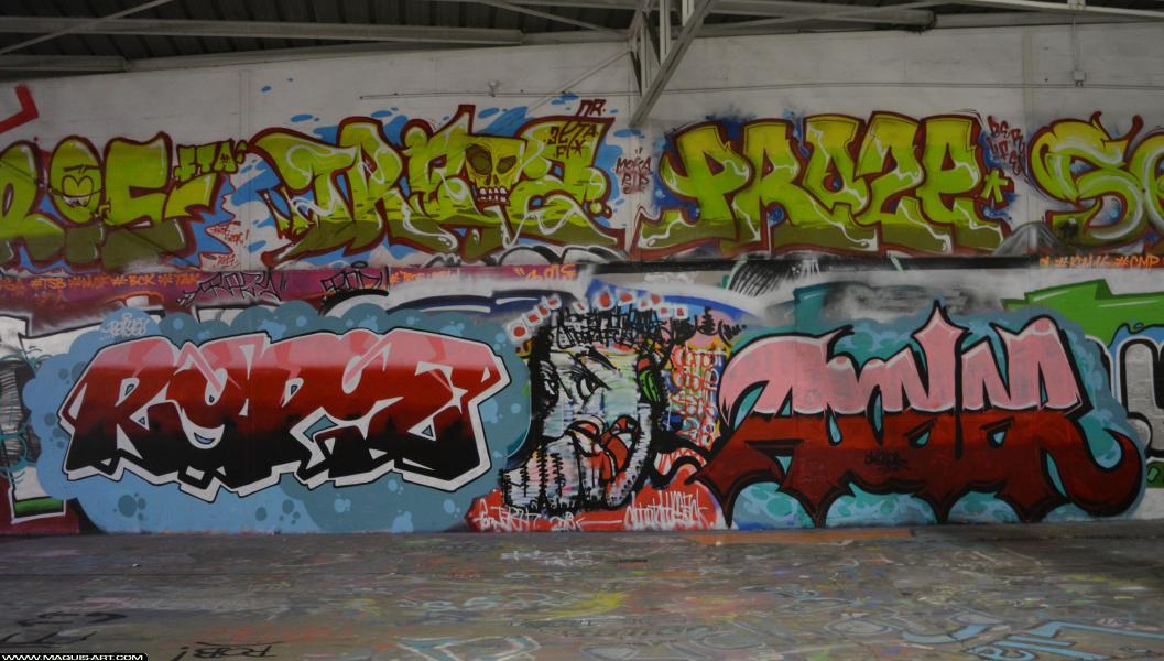 Photo de REPIE, AXELER, réalisée au Maquis-art Wall of fame - L'aérosol, Paris