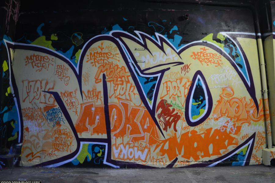 Photo de MOKA, 3ER, 435, réalisée au Maquis-art Wall of fame - L'aérosol, Paris