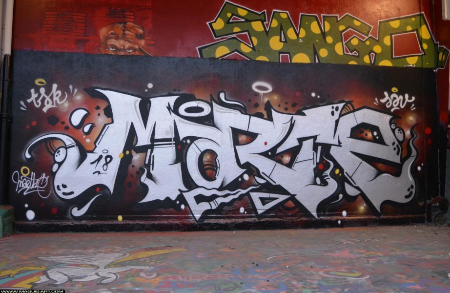 Photo de MARTE, TSK, JAV, réalisée au Maquis-art Wall of fame - L'aérosol, Paris